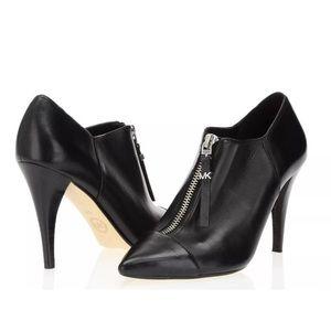 Michael Kors Andi Black Leather Bootie 8.5